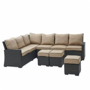 Belham Living Monticello All Weather Outdoor Wicker Sofa Sectional Set