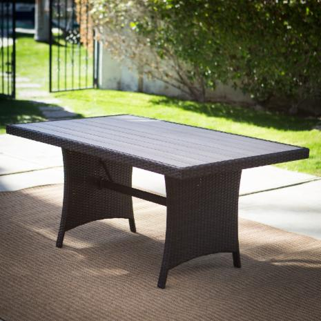 Outdoor Dining Tables Hayneedle - Outdoor wood rectangular dining table