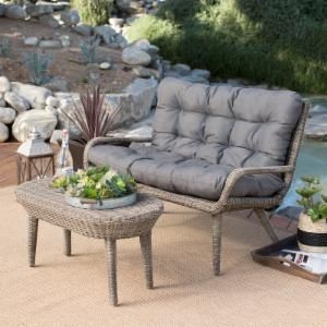 Belham Living Rio All Weather Wicker Loveseat And Coffee Table