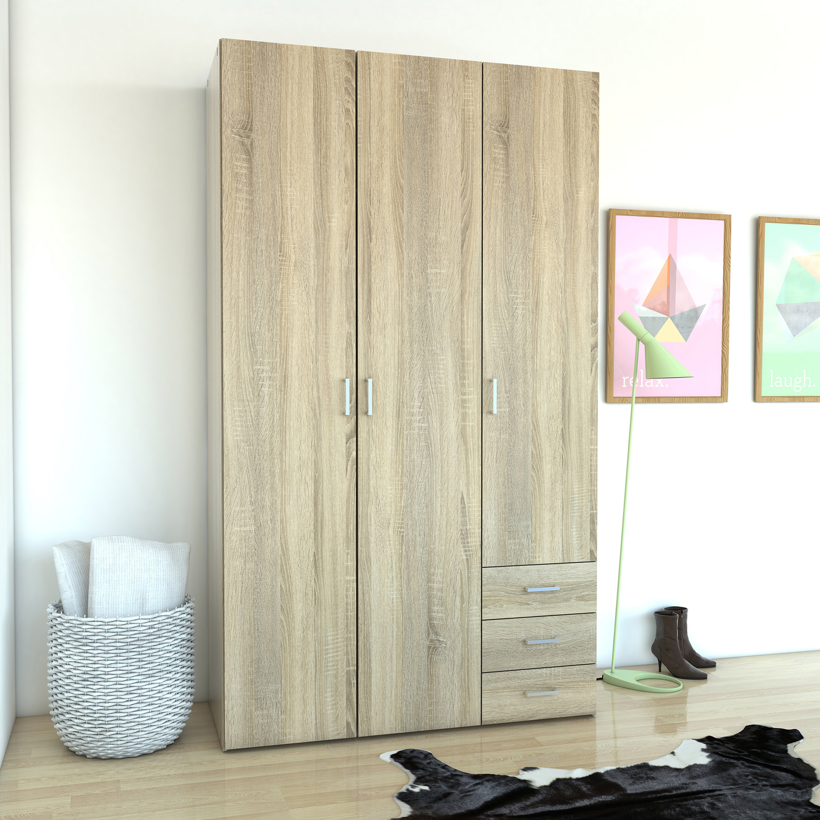 & Tvilum Space 3 Drawer and 3 Door Armoire | Hayneedle Pezcame.Com