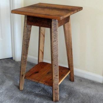 Twig Country Candle Table with Shelf