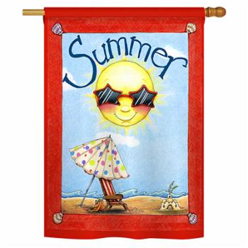 Breeze Decor Fun in Summer Vertical House Flag