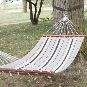 11 ft. Bay Stripe Quilted Fabric Single Hammocks