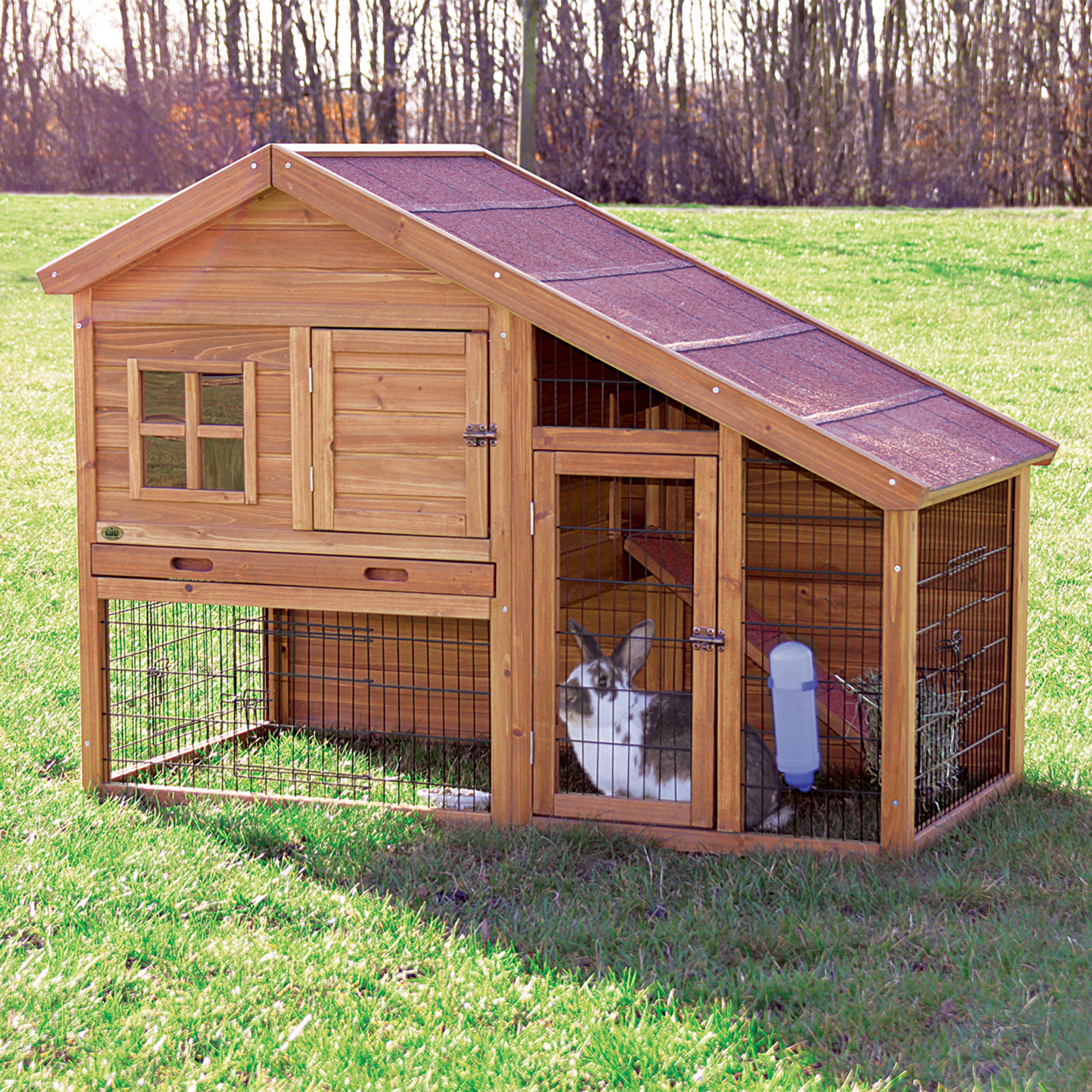trixie rabbit hutch with a view hayneedle