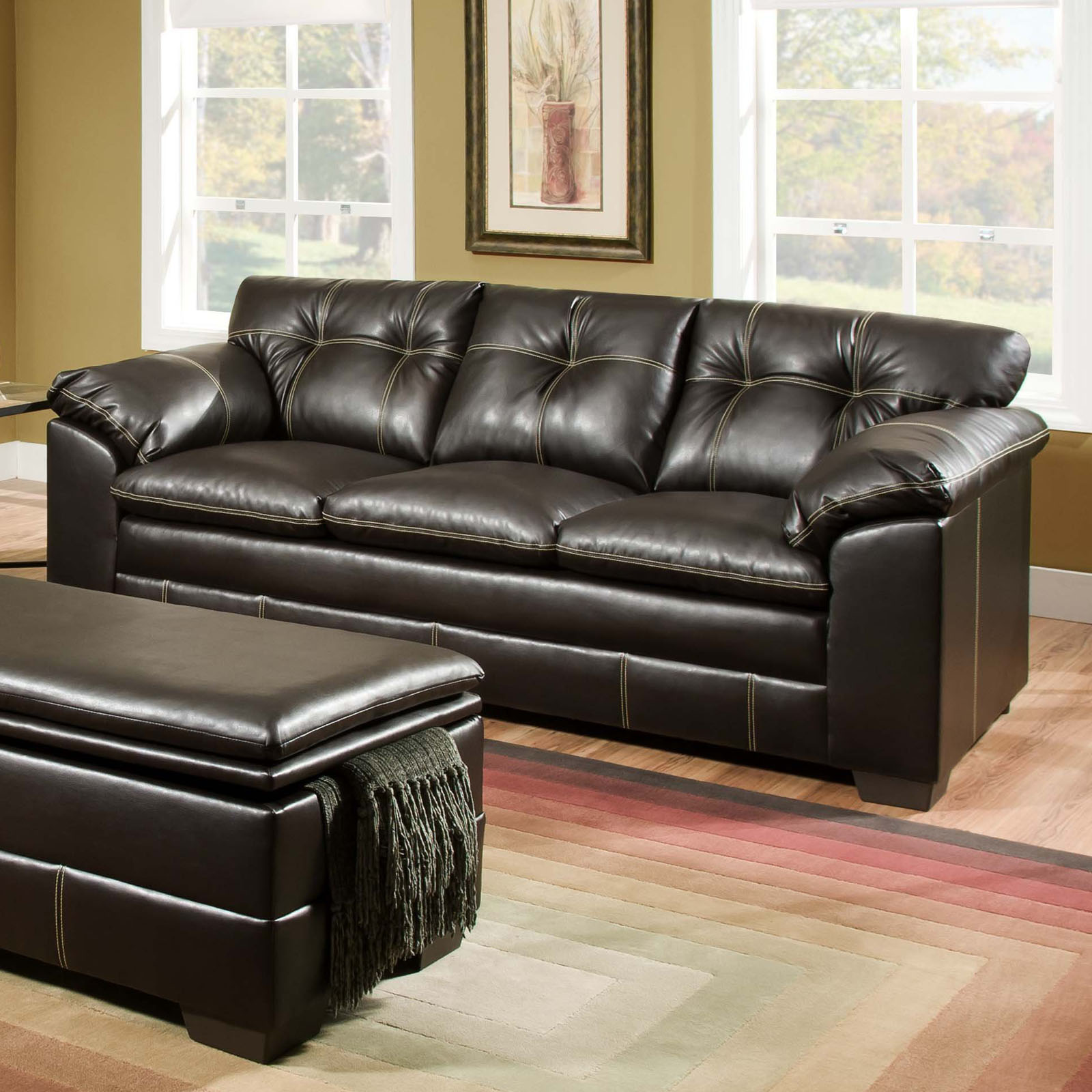 Simmons Upholstery Premier Bonded Leather Sofa
