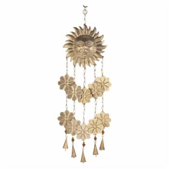 DecMode 32 in. Sun Face Wind Chime