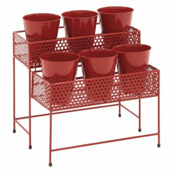 DecMode All Weather 2-Tier Plant Stand
