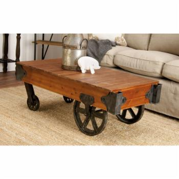 DecMode Wood Coffee Table