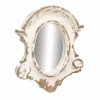 DecMode Scallop Frame Wall Mirror