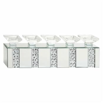 DecMode 24 in. Mirrored Candle Holder