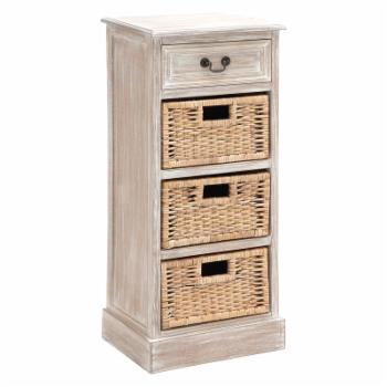 DecMode 1 Drawer Chest with 3 Baskets