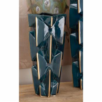 DecMode 15-in. Ceramic Table Vase - Blue