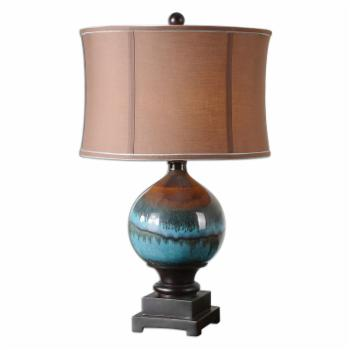Uttermost Padula Table Lamp - 28.5H in. Glossy Blue