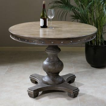Uttermost Sylvana Wood Round Accent Table