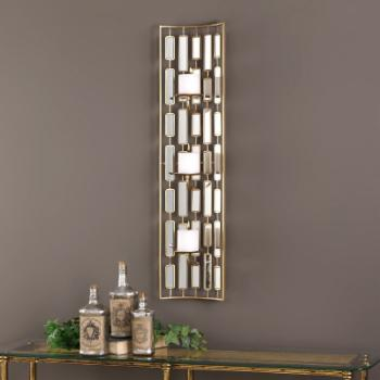 Uttermost Loire Mirrored Candle Wall Sconce
