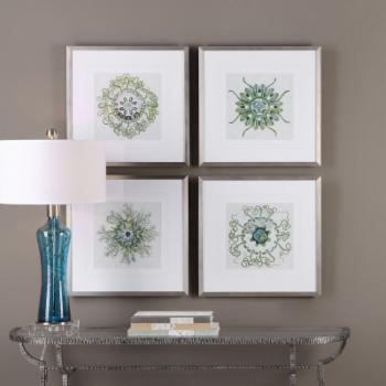 Uttermost Organic Symbols Wall Art - Set of 4
