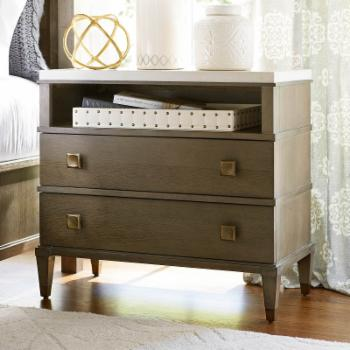 Universal Furniture Playlist Stone Top 2 Drawer Nightstand