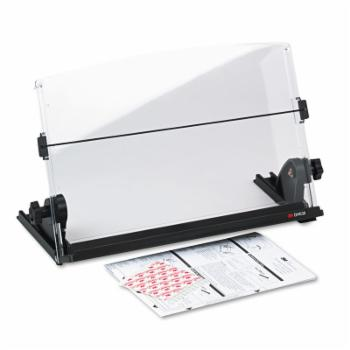 3M In-Line Adjustable Desktop Copyholder - Black / Clear