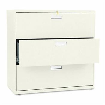 HON 600 Series 42 Inch Three Drawer Lateral File