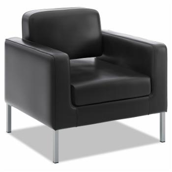 Basyx VL887 Lounge Seating Series Leather Club Chair - Black
