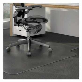 Universal 36 x 48 Cleated Chair Mat for Low and Medium Pile