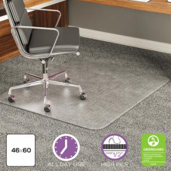 Deflect-o 46 x 60 ExecuMat Intense Chair Mat for High Pile Carpet