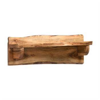 Alaterre Alpine Natural Live Edge Wood 24 in. Mantel Shelf