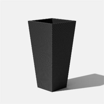 Veradek Pro Series Column 40 in. Grooved Outdoor Square Planter