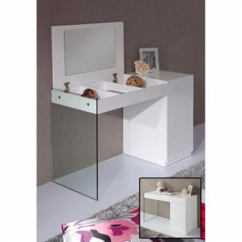 VIG Furniture Modrest Volare Modern Floating Glass Vanity with Mirror