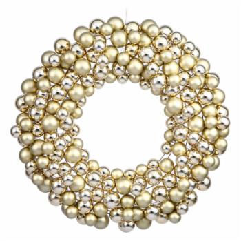 Vickerman 36 in. Gold Colored Ball Wreath