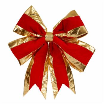 Vickerman Red Structured Bow Gold Trim