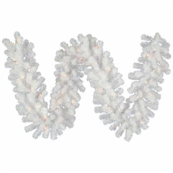 Vickerman9 ft. Pre-Lit Crystal White Garland