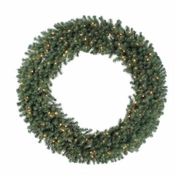 100 in. Douglas Fir Pre-lit Christmas Wreath