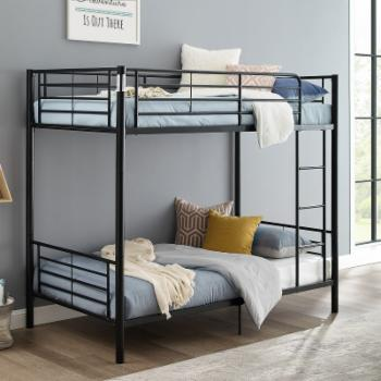 Sunset Metal Twin Over Twin Bunk Bed - Black