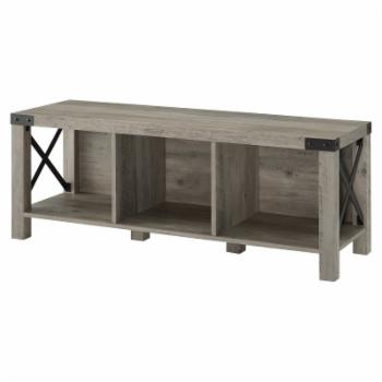 HumbleNest Countryside Rustic Cottage Wood Entry Bench