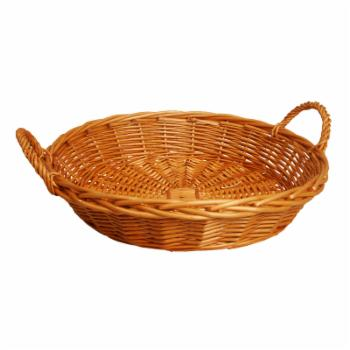 Wald Import 22 in. Round Honey Willow Basket