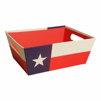 Wald Import Texas Paperboard Tote Basket