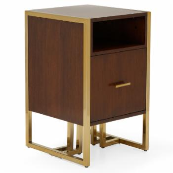 MoDRN Glam Marion Sleigh Base File Cabinet