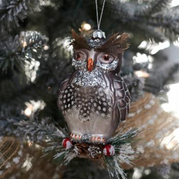 Belham Living Glass Owl Ornaments - Set of 6