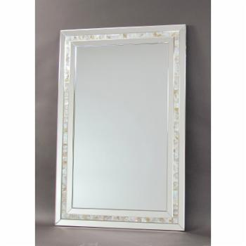 Wayborn Mother of Pearl Beveled Wall Mirror