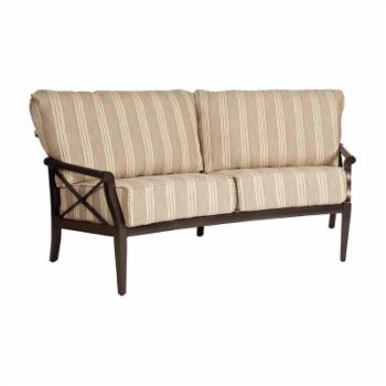 Woodard Andover Cushion Crescent Loveseat