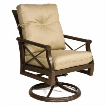 Woodard Andover Cushion Swivel Rocker Dining Chair
