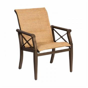 Woodard Andover Padded Sling Patio Dining Arm Chair
