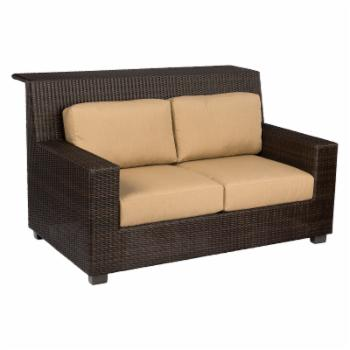Woodard Montecito Wicker Patio Loveseat with Bar