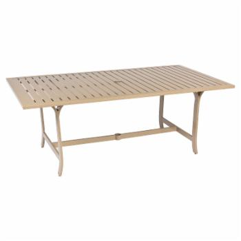 Woodard Seal Cove Rectangular Patio Dining Table with Umbrella Hole