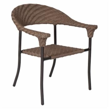 Woodard Barlow Stackable Patio Dining Arm Chair