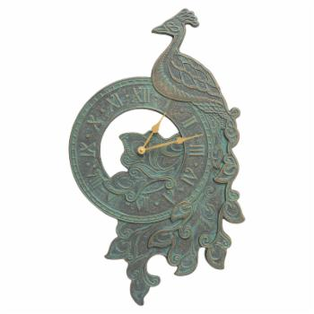 Whitehall Products Peacock Indoor/Outdoor Wall Clock
