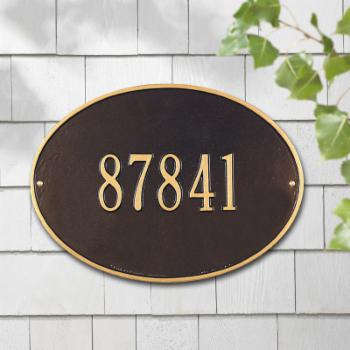 Whitehall Hawthorne 1-line Personalized Address Plaque