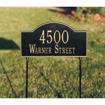 Whitehall Double Sided Arch Marker 2-line Standard Lawn Plaque