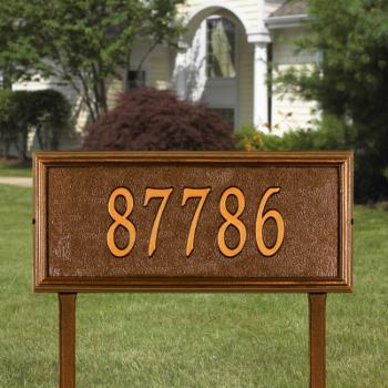 Whitehall Springfield Rectangle 1-line Lawn Mounted Plaque